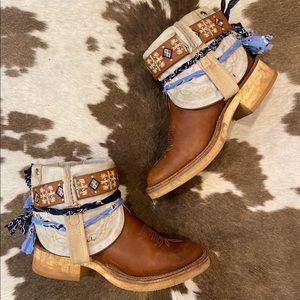 Vintage Tony Lama Belt Ankle Booties size 7 B